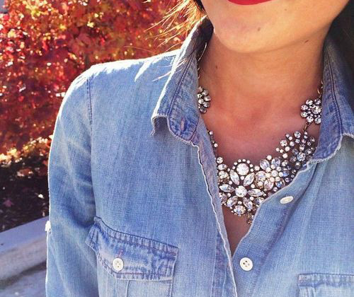 Source / Similar Crystal Floral Necklace