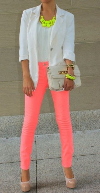 OutFit / Neon Fragment Necklace