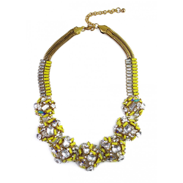 Neon Cluster Choker Necklace