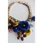 Multicolored Bouquet 3D Floral Stone Necklace