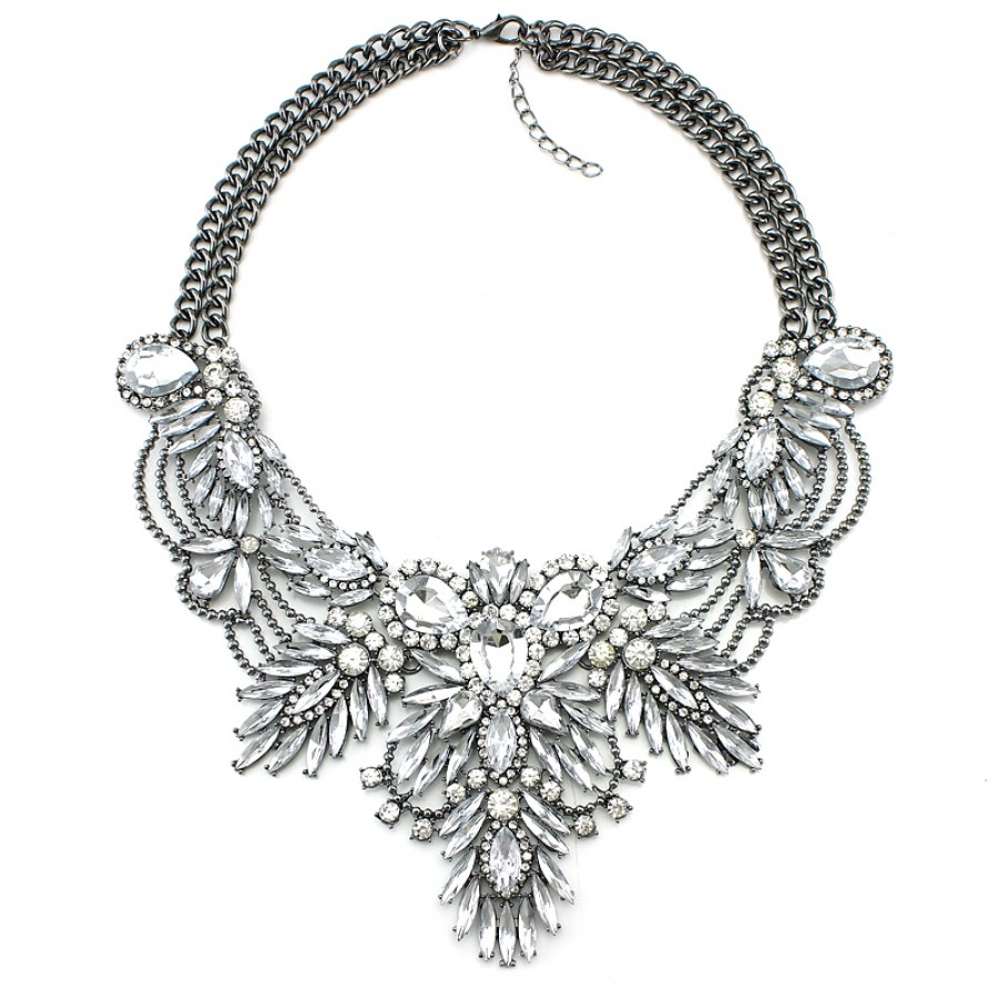 nkc black amrita shop sienna singh jewelry bib product necklace