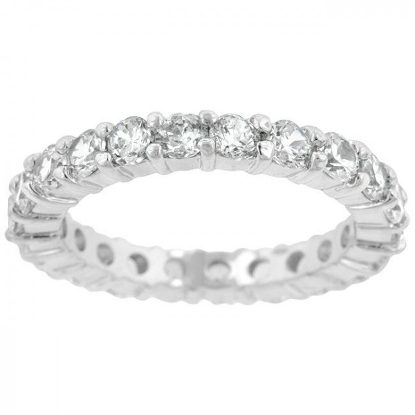Mini Elizabeth CZ Pave Sterling Silver Band