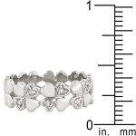 Clover Hearts Sterling Silver Ring Band