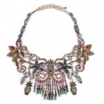 Pastel Beaded Multicolored Fringe Statement Necklace