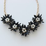 Field Day Black Bauble Bloom Statement Necklace