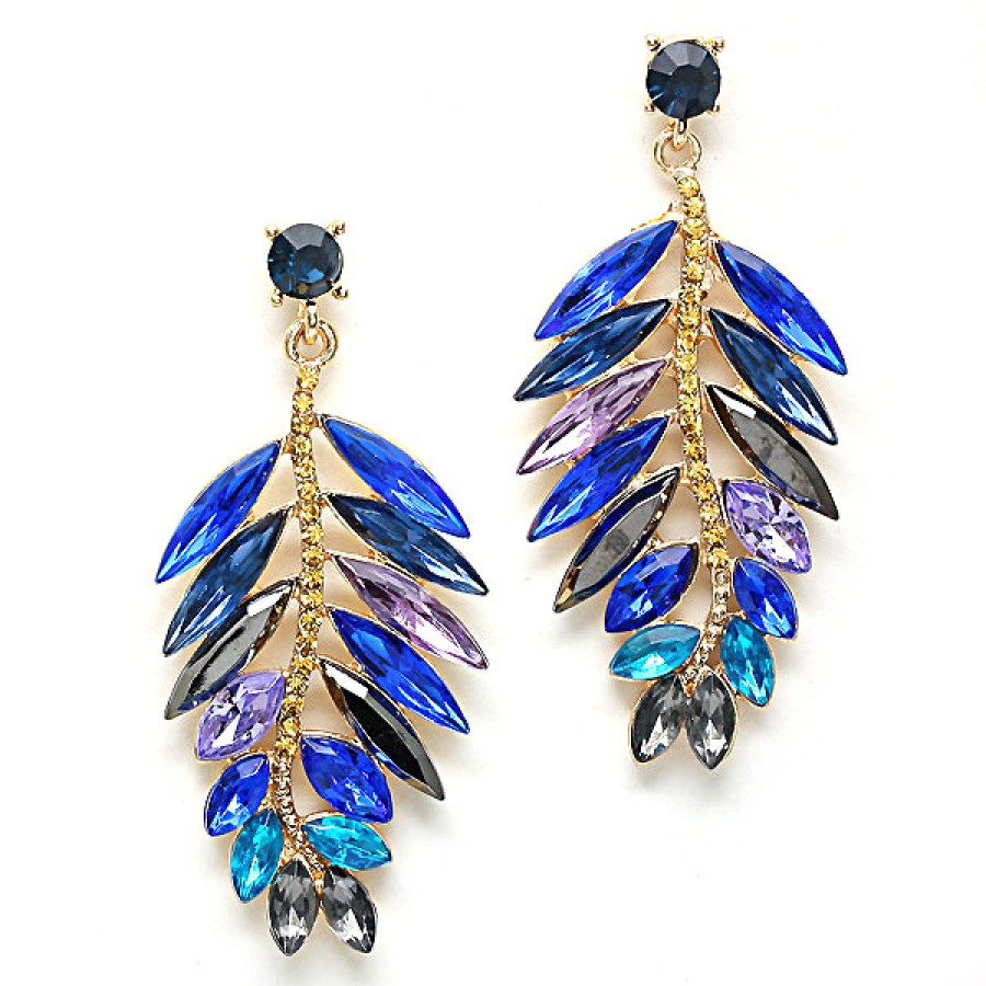 adorning products jewel silver and blue chain earrings teal ava sarai stud