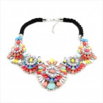 Les Filles Candy Color Stone Clusters Statement Necklace