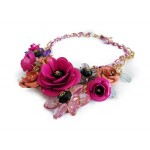 Ombre Pink Rose Bouquet 3D Statement Necklace