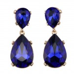 Jolie Sapphire Crystal Teardrop Earrings