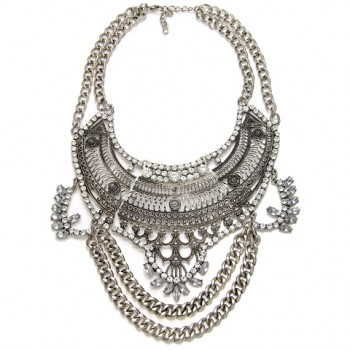 Atxi Crystal Chain Fringe Maxi Necklace