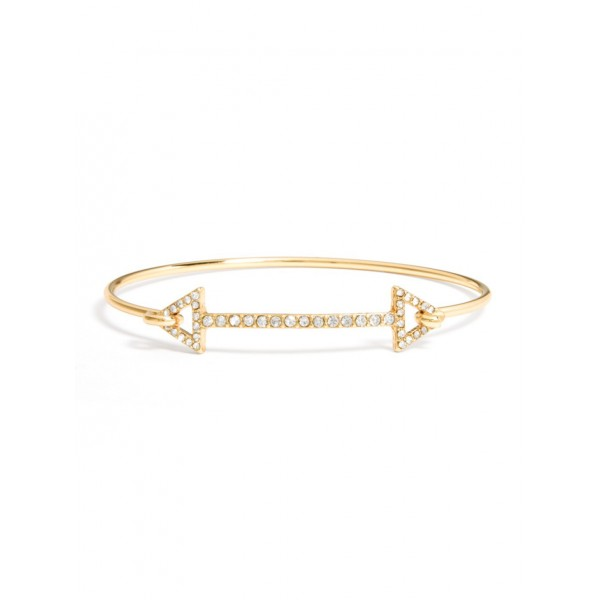Pave Arrow Signal Bangle Bracelet