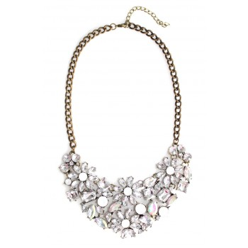 Aurelia Borealis Crystal Flower Bib Necklace