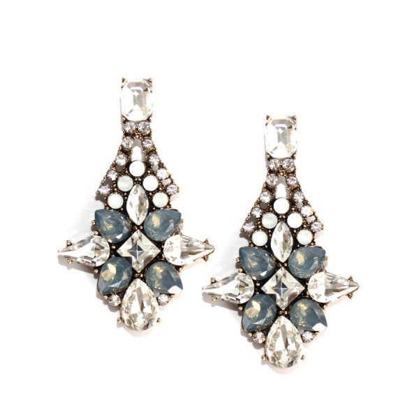 Eris Aurora Borealis Starlet Crystal Opalline Earrings