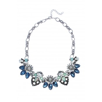 Botanica Floral & Pearls Statement Necklace