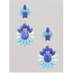 Durga Blue Stone Burst Statement Stud Earrings