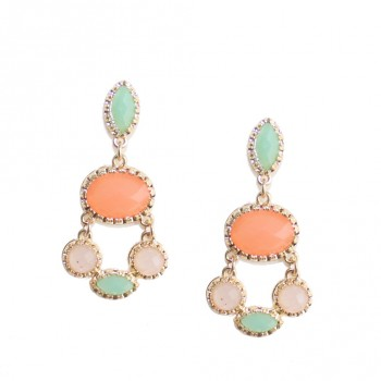 Pastel Candy Color Stone Stud Earrings