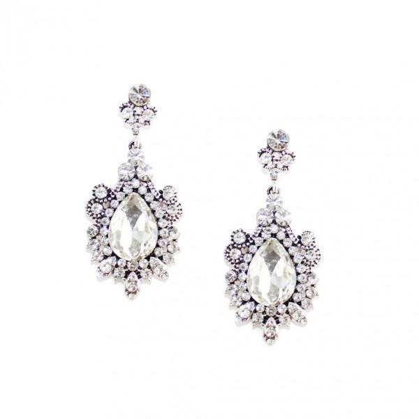 Aurora Princess Snow Crystal Elegant Earrings