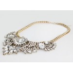 Ice Art Deco Crystal Bib Necklace