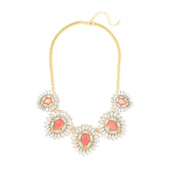 Elia Crystal Flower Elegant Necklace