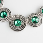 Garbo Emerald Multi Circles Necklace