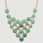 Anouk Turquoise Marble Bauble Dots Necklace