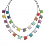 Tutti Fruitti Candy Color Double Row Statement Necklace