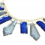 Koi Silver Cobalt Geo Agate Stone Necklace