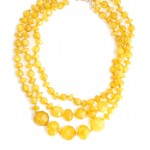 Mustard Give It A Swirl Tiered Beads Necklace