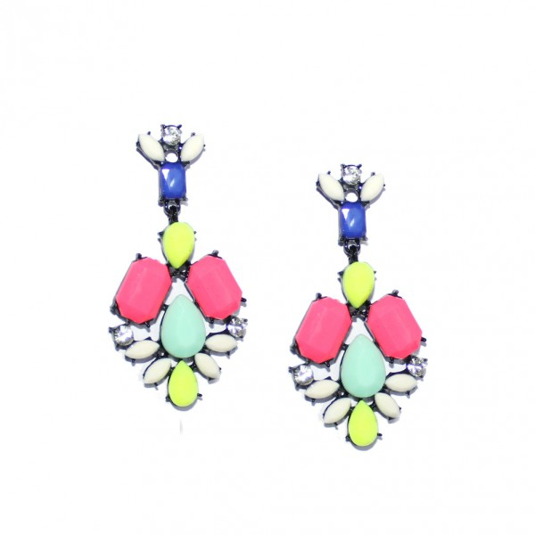 Candy Confetti Neon Geo Stud Earrings