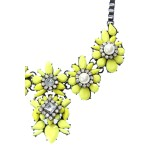 Mireya Neon Yellow Stone Burst Cluster Necklace