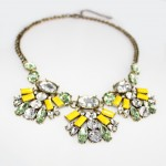 Mint Lemonade Crystal Encrusted Statement Necklace