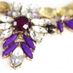 Savannah Purple & Champaign Laurel Marquise Necklace
