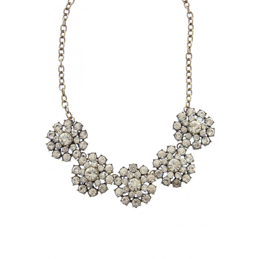 Putting On The Ritz Crystal Collar Vintage Statement