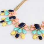 South Of France Neon Stone Mix Bloom Necklace