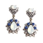 Aukai Aurora Opal Teardrop Art Deco Earrings