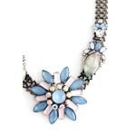 Blue North Star Pastel Aurora Borealis Stone Necklace