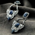 Blue Sodalite Pave Convertible Earrings