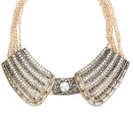 Glam Elf Metal Gold Collar Necklace