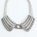 Glam Elf Pave Crystal Encrusted Metal Collar Necklace