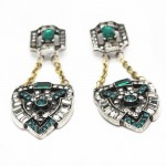 Zelda Pave Art Deco Sapphire Statement Earrings