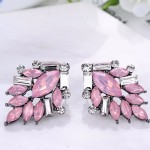 Opal Pink Blush Chic Art Deco Stud Earrings