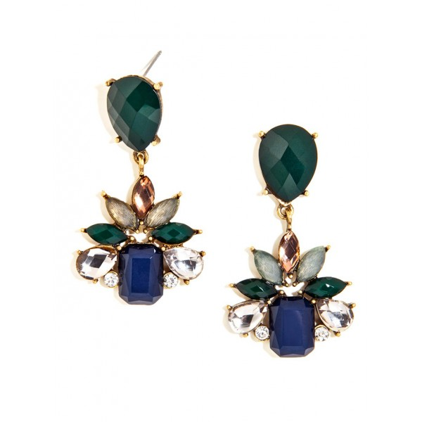 Nightshade Green Floral Bauble Earrings