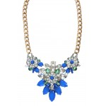 Apolonia Stone Encrusted Floral Pendant Statement Necklace