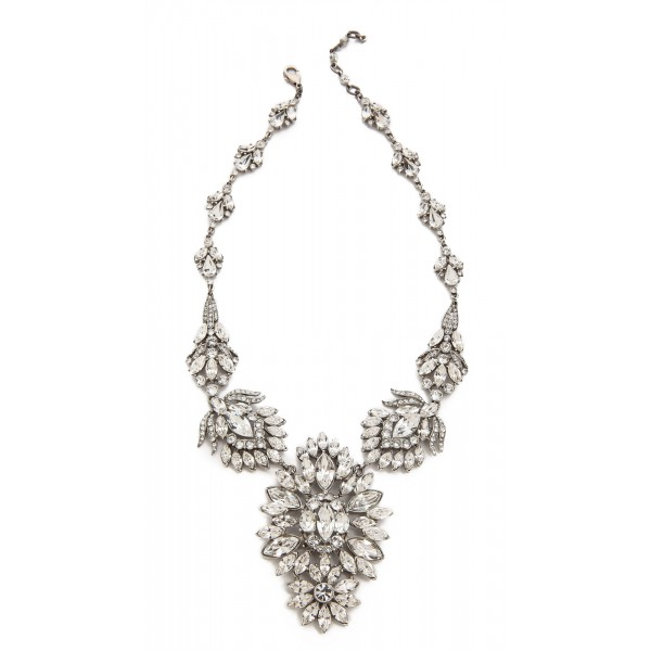 Snow Princess Crystal Snowflakes Silver Tone Necklace