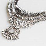Ice Princess Rhinestones Encrusted Statement Necklace