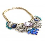 Sorrelli Jeweled Crystal Cascade Statement Necklace