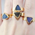 'Lochlan' Triangle Druzy Stone Ring