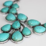 Skye Turquoise Teardrop Cluster Statement Necklace