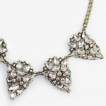 Covia Ice Crystal Encrusted Geo Pendant Necklace