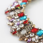 Seeki Red Aurora Borealis Crystal Statement Necklace